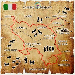 cammino dei briganti mappa