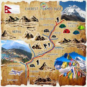 campo base everest mappa