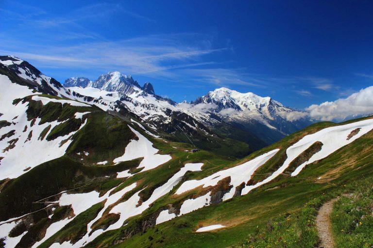 tour del monte bianco neve